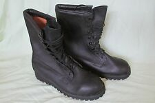 Belleville Vibram Gore-Tex Military Tactical Black Leather Boots 9 W Wide NICE!!