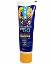 ** EAD KIDS SUNSCREEN LOTION SPF50 WATER RESISTANT 88ML NEW ** SUN CREAM UVA UVB