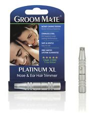Groom Mate Clipper Mens Ear and Nose Hair Trimmer Best for Removing Nasal Hairs