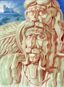 HEIR (1953) art poster by Stanislav Szukalski