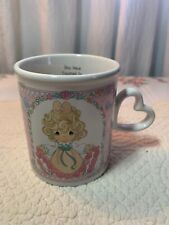 "Precious Moments Coffee Mug 1996 ""You Have Touched So Many Hearts"" Heart Handle"