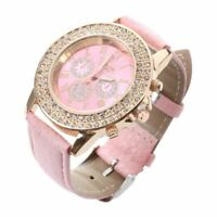 Uhr fuer Frauen, Lederband Rosa Farbe T7C7 IS