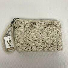 The Sak 30 Sayulita Natural Medallion Hand Crocheted Convertible Wristlet Clutch