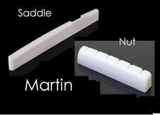 GeetarGizmos BONE NUT and SADDLE SET for MARTIN Acoustic Guitar