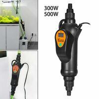 New 500W External Filter Heater Fish Tank Inline Aquarium Water Thermostat GOOD