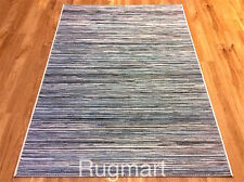 TEAL BLUE CREAM Kitchen Utility Runner Rug Sisal like Easycare IN & OUT DOOR Mat