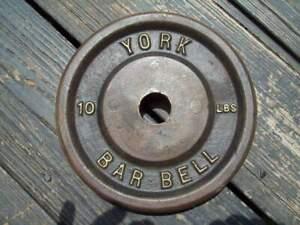 (1) vtg YORK BARBELL 10 BodyBuilding STRONGMAN Fitness HOMEGYM WeightLifting ab