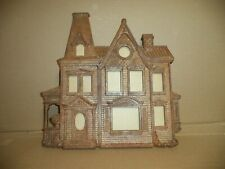 "Home Interior Syroco Vintage 1981 Victorian House Collage Picture Frame 16""x16"""