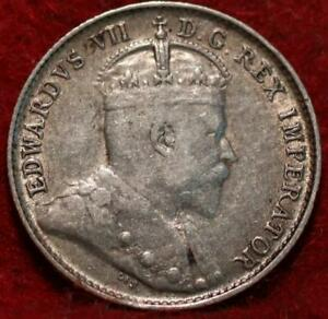 1902 Canada 5 Cents Silver Foreign Coin