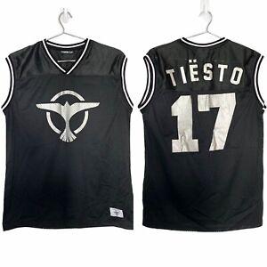 Dj Tiesto Men's Basketball Jersey #17 Black sz S Official Merchandise EDM Rave