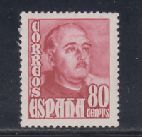 ESPAÑA (1948/54) NUEVO SIN FIJASELLOS MNH - EDIFIL 1023 (80 cts) FRANCO - LOTE 2