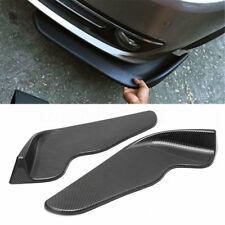 2x Car Front Bumper Lip Diffuser Splitter Canard Winglet Type Carbon Fiber Style