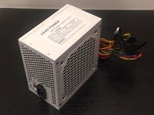 Brand New--Lead Power WHITE 650w-MAX ATX Power Supply 12cm-Fan 20+4Pin SATA PCIe