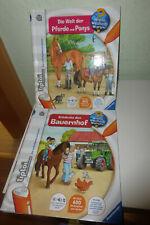 2 TIPTOI -Bücher : Wieso Weshalb Warum? - Bauernhof + Pferde und Ponys - ab 4