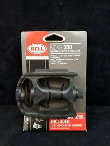Bell Kicks 350 Universal Bicycle Pedal Set Ball Bearing Fits 1/2 and 9/16 NEW