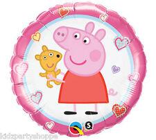 "PEPPA PIG & Teddy 18"" Mylar BALLOON Happy Birthday Party Supplies Decoration"