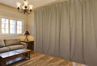 Blockout Curtain 530x230cm PINCH PLEAT 2 panel Blackout High Level Fabric Latte