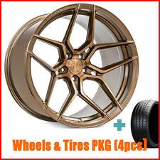 """4New 19"""" Rohana RFX11 Brush Bronze Wheels and Tires"""