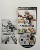 Madden NFL 11 (Sony PlayStation 2, 2010) COMPLETE TESTED!! FAST SHIP!!