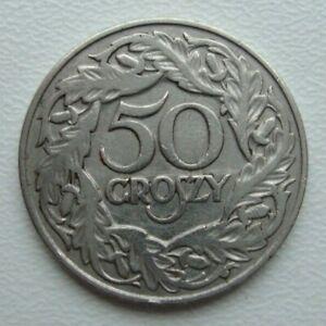 Poland 50 Groszy 1923 Nickel Coin M