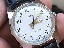 Vintage 1978 Timex Sprite S England Dial Mechanic Men's Watch Serviced New Strap