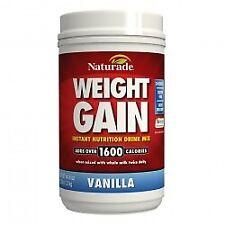 Weight Gain-Vanilla No Sugar Naturade Products 40.6 oz Powder