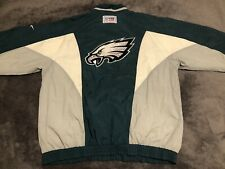 Vintage Philadelphia Eagles Pro Line Reebok Windbreaker Jacket Men's Large