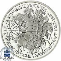 BRD 10 DM Silber 1987 - 30 Jahre Römische Verträge Stempelglanz Münze in Kapsel