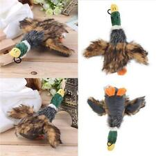 Pet Dog Puppy Squeaky Duck Squeaker Plush Mallard Sound Play Exercise Chew Toy J