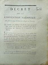 664 LOI & DECRET CONVENTION NATIONALE 1793 ARMÉE TERRE MER MÉRITE DE LA PATRIE
