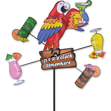 """Island Parrot Staked Wind Whirli Wing 12"""" Whirligig Spinner 15...PR 21898"""