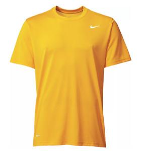 NIKE Dri-Fit classic cotton Swoosh LOGO t-Shirt- XXL- NEW- Gold sport Tee jersey