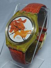 GJ114 Swatch 1995 Lylium Flowers Authentic Swiss Watch