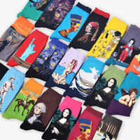 3D Retro Painting Art Socks Unisex Women Men Funny Novelty Starry Night Vintage