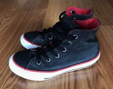Converse Chuck Taylor All Star Coated Canvas Boys Sneakers 645178F - BLACK RED