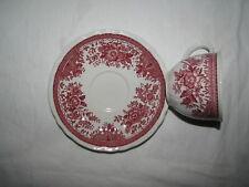 red transferware Villeroy & Boch  Fasan Demi tasse Cup & Saucer
