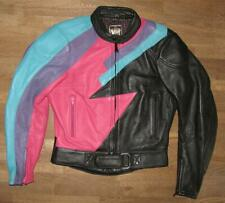 schöne Damen- Motorrad- LEDERJACKE / Kombi- Jacke in schwarz- bunt Gr. 40