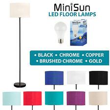 MiniSun Tall Stem 150cm LED Floor Standard Lamp Lounge Light Lampshade Lighting