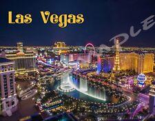 Las Vegas - Strip - Bellagio, Paris, Caesars etc - Flexible Fridge Magnet