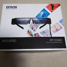 Epson BT-200AV Moverio See-Through Smart Glasses With Adapter Japan Model USED