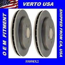 Set of 2 Disc Brake Rotors Rear Verto USA  55098X2