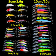 New 48pcs Best Fishing Lures Freshwater Mixed 5 Model Topwater Baits Wobblers US