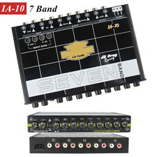 1x 7-Band Car Sound Audio Equalizer EQ w/ Front Rear+Sub Output Tuning Crossover