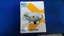 Croydex Pendle Flexi-Fix Soap Dish & Holder Chrome-Plated