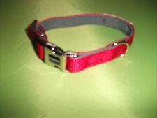 Nuevo Rojo Collar de perro de doodlebone-Longitud: 10 in (approx. 25.40 cm) se extenderá a 12 Pulgadas-Bonito