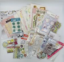 Job-lot collection 37 un-opened card making scrapbook craft embellishments new
