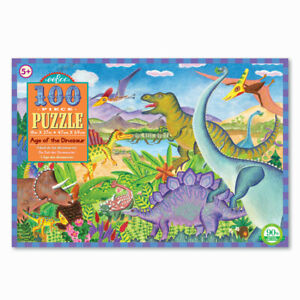 Eeboo Age of the Dinosaur 100 Piece Kids Toy Family Puzzle Age 5+  02007