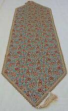 Persian art silk tapestry woven Termeh paisley rug tablecloth runner furniture