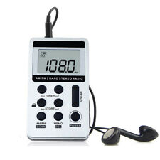 Portable Mini Pocket FM AM 2 Band Radio Receiver Rechargeable Battery & Earphone