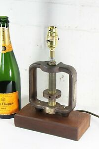Steampunk Desk Lamp Table Lamp Vintage Industrial Pump Room Parts Brass & Iron